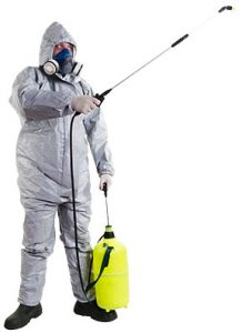 melbourne_pest_controller_at_work_spraying_preventative_anti_pest_liquified_surface_spray